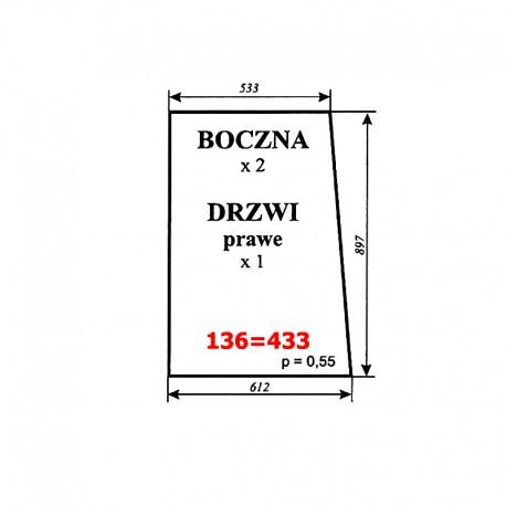 Szyba boczna i drzwi prawych C-330 kabina polska (POM Smolniki)