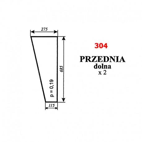 Szyba przednia dolna C-330 kabina Sokółka