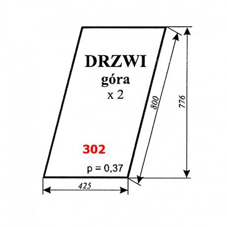 Szyba górna drzwi C-330 kabina Sokółka
