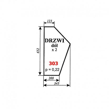 Szyba dolna drzwi C-330 kabina Sokółka