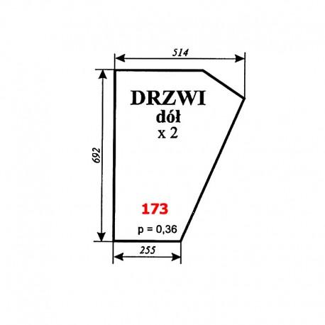 Szyba dolna drzwi C-360 kabina Koźmin