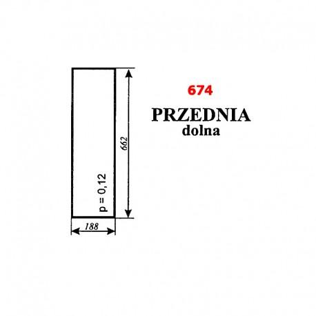 Szyba przednia dolna C-360 kabina Koźmin (Zbigniew Szyszka)