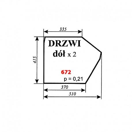 Szyba dolna drzwi C-360 kabina Koźmin (Zbigniew Szyszka)