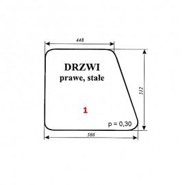 """Szyba drzwi prawych C-360 kabina Kunów (""""blaszanka"""", """"czterdziestka"""")"""