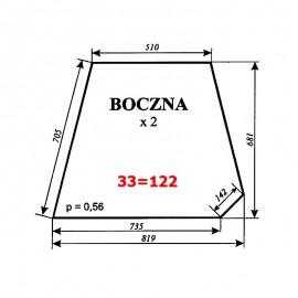 Szyba boczna C-360 kabina Sokółka (stary typ, KCR-360)