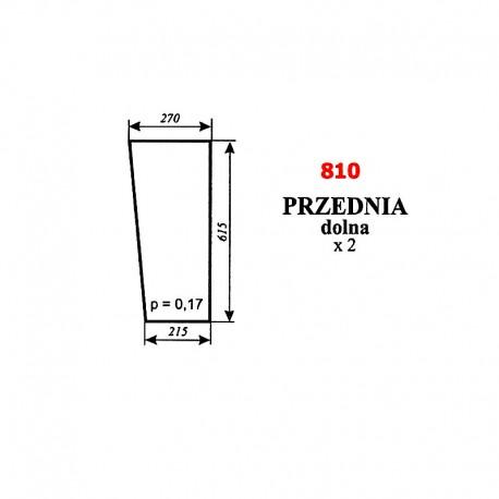 Szyba przednia dolna C-360, kabina Szyszka - Koźmin (K2)
