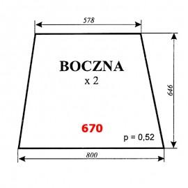 Szyba boczna C-360, kabina Szyszka - Koźmin (K2)