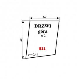 Szyba górna drzwi C-360, kabina Szyszka - Koźmin (K2)