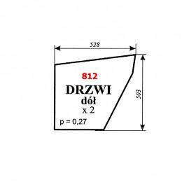 Szyba dolna drzwi C-360, kabina Szyszka - Koźmin (K2)