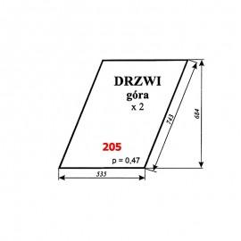 Szyba górna drzwi Zetor 5011, 5211, 7045