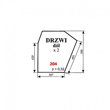Szyba dolna drzwi Zetor 5011, 5211, 7045
