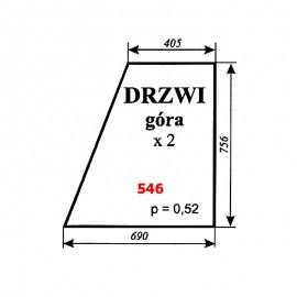 Szyba górna drzwi Zetor 5611, 5718, 6718