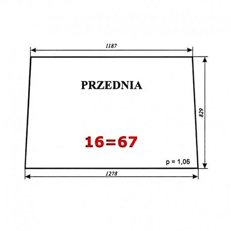 Szyba przednia Zetor 7011 typ BK 5911