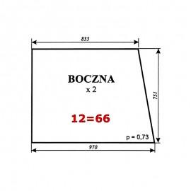 Szyba boczna Zetor 7011 typ BK 5911