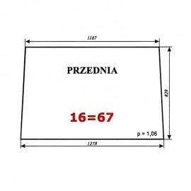 Szyba przednia Zetor 7211 (5211/5320/6340/7245) typ BK 6011s