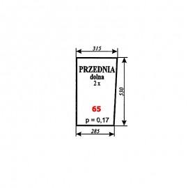 Szyba przednia dolna Zetor 7211 (5211/5320/6340/7245) typ BK 6011s