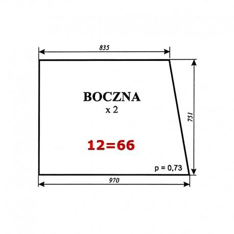 Szyba boczna Zetor 7211 (5211/5320/6340/7245) typ BK 6011s