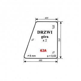 Szyba górna drzwi Zetor 7211 (5211/5320/6340/7245) typ BK 6011s