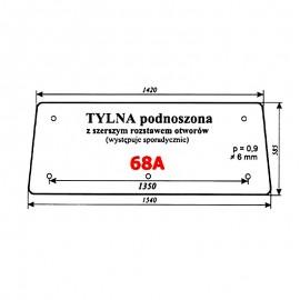 Szyba tylna (wariant) Zetor 7211 (5211/5320/6340/7245) typ BK 6011s