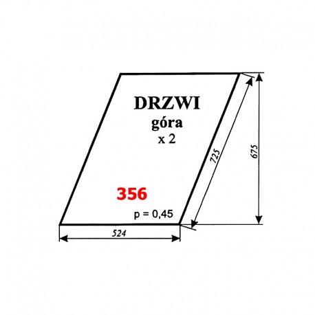 Szyba górna drzwi Zetor 7211, 6340