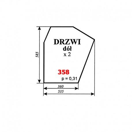 Szyba dolna drzwi Zetor 7211, 6340