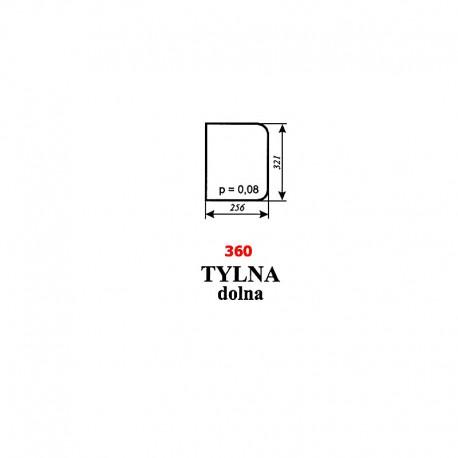 Szyba tylna dolna Zetor 7211, 6340