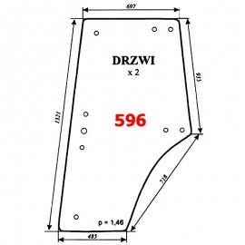 Szyba drzwi Zetor 8540, 9540, 10540 - nowy typ