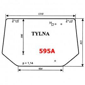 Szyba tylna (wariant) Zetor 8540, 9540, 10540 - nowy typ