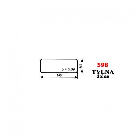 Szyba tylna dolna Zetor 8540, 9540, 10540 - nowy typ