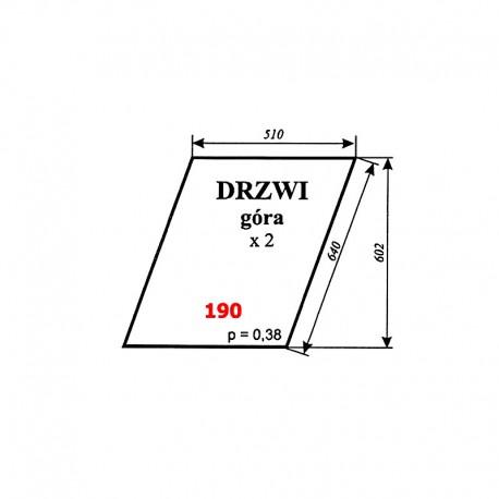 Szyba górna drzwi Zetor 8111, 10145, 12111, 16145