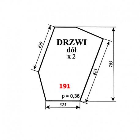 Szyba dolna drzwi Zetor 8111, 10145, 12111, 16145