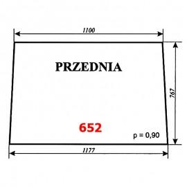 Szyba przednia Zetor 12245, 16245