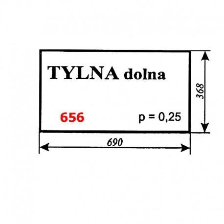 Szyba tylna dolna Zetor 12245, 16245