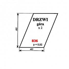 Szyba górna drzwi Zetor 6945 (prod. 1977-80)