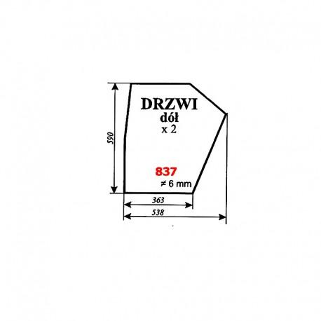 Szyba dolna drzwi Zetor 6945 (prod. 1977-80)