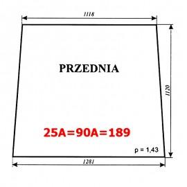 Szyba przednia Ursus 1604 (1201), C-385 stary typ