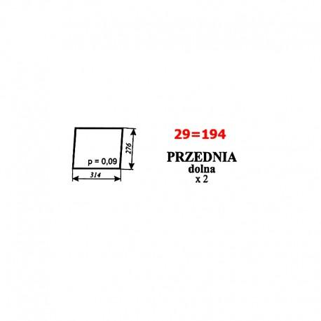 Szyba przednia dolna Ursus 1604 (1201), C-385 stary typ