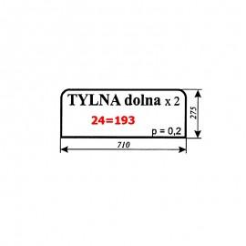 Szyba tylna dolna Ursus 912 (1614) typ 80354 Kunów, C-385 nowy typ