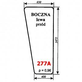 Szyba przednia boczna lewa kombajnu Bizon Rekord 58