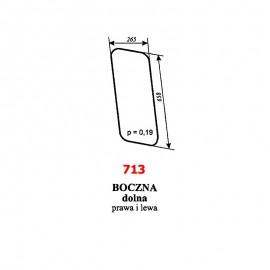 Szyba boczna dolna (prawa i lewa) kombajnu Claas Dominator 85