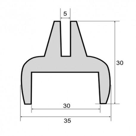 Uszczelka do szyb ciągnikowych, wpust 30 mm