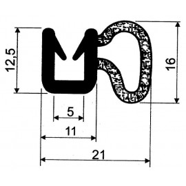 Uszczelka dwuskładnikowa nabijana na krawędź szyby, typ T-24